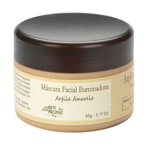 Máscara Facial de Argila Amarela - Iluminadora 90g   Arte dos Aromas