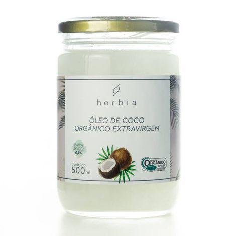 Óleo de Coco Orgânico 500ml | Herbia
