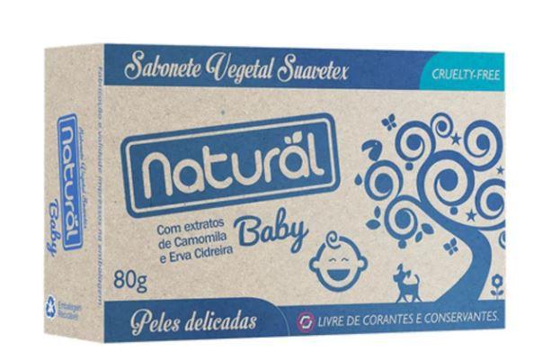 Sabonete natural Baby 80g   Natural Suavetex