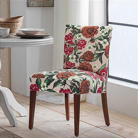 Capa para Cadeira de Malha Estampada Primavera Tamanho Único - Adomes