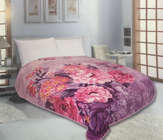 Cobertor Duplo Super Soft Solteiro 640g/m² Flores - Realce Top Sultan