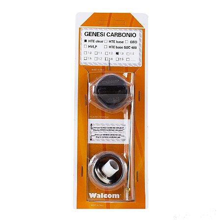 Kit ABC Genesis Carbonio 360 e Light  Hte CLEAR 1.3mm (bico, agulha e capa de ar) Walcom