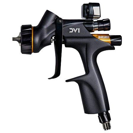 Pistola de Pintura DV1 Clearcoat 1.3mm com manômetro digital (com caneca) Devilbiss