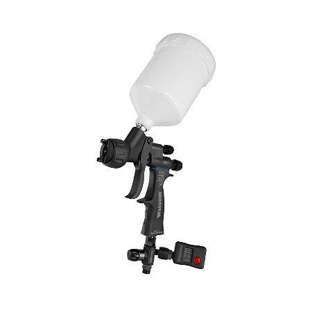 Pistola de Pintura Carbonio 360° light Geo hvlp Walcom 1.3 c/manômetro digital (Maleta Completa)