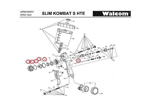 Kit ABC Kombat hte 1.3mm Walcom