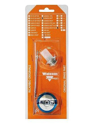Kit Abc Pistola Walcom Genesis Geo 1.3mm (bico, agulha e capa de ar)