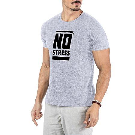 Camiseta Estampa Frontal Logo No Stress Mescla