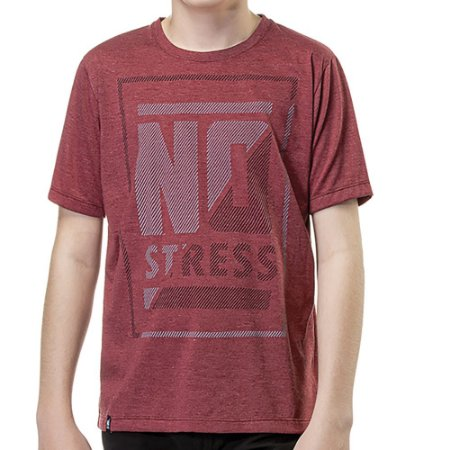 Camiseta Estampa Frontal Menino No Stress Vinho