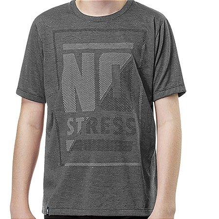 Camiseta Estampa Frontal Menino No Stress Mescla Escuro