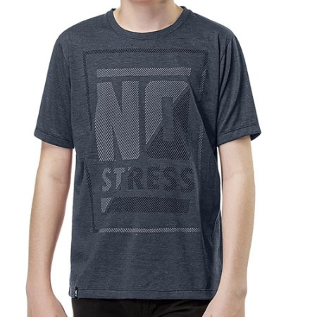 Camiseta Estampa Frontal Menino No Stress Marinho