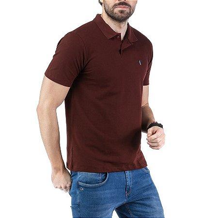 Camisa Polo Piquet Bordado TZE Vinho