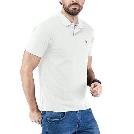 Camisa Polo Piquet Bordado TZE Branca