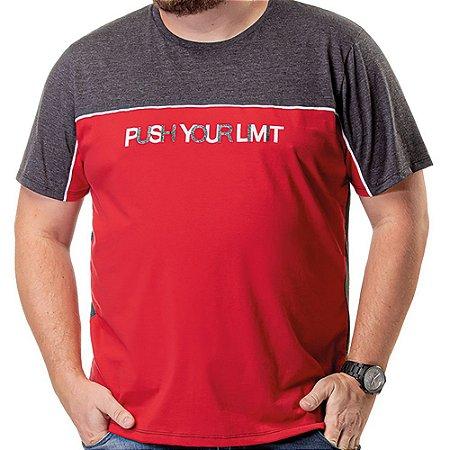 Camiseta Recorte Plus TZE Vermelha