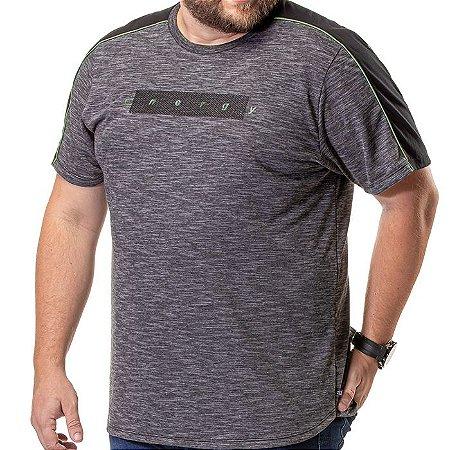 Camiseta Barra Arredondada Plus TZE Mescla Escuro