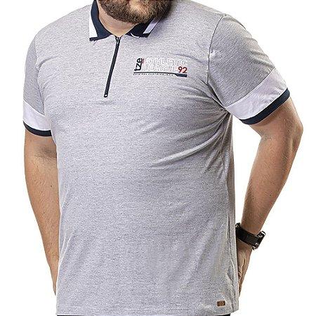 Camisa Polo Zíper Plus TZE Mescla