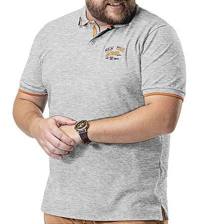 Camisa Polo Piquet Bordado Plus TZE Mescla