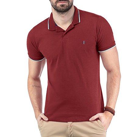 Camisa Polo Bordado TZE Vermelha