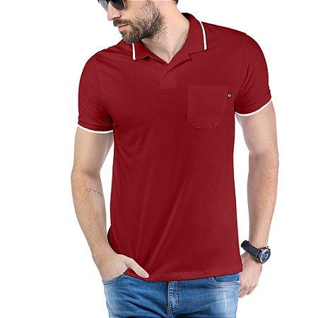 Camisa Polo Bolso TZE Vinho