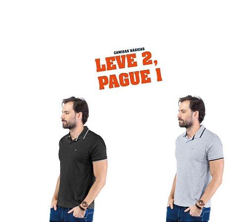 Camisa Polo Plaquinha TZE - Leve 2, Pague 1