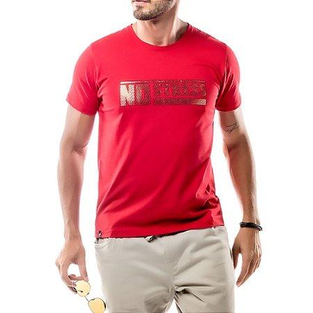 Camiseta Foil Logo No Stress Vermelha