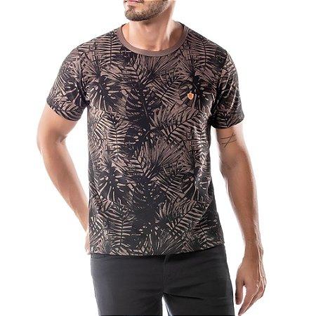 Camiseta Estampa Floral No Stress Nude