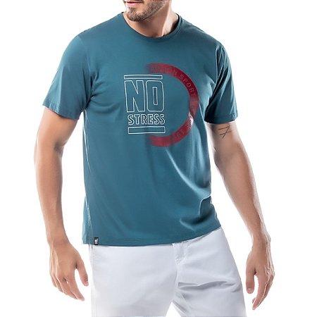 Camiseta Estampa Logo No Stress Azul