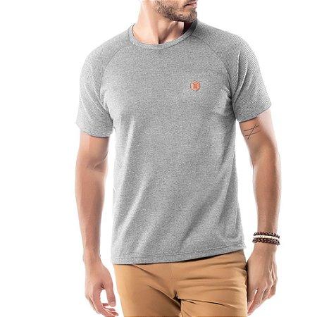 Camiseta Raglan Under No Stress Mescla Escuro