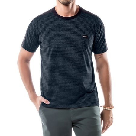 Camiseta Listras Twice No Stress Preta