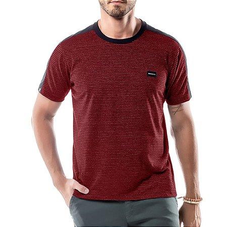 Camiseta Listras Twice No Stress Vermelha