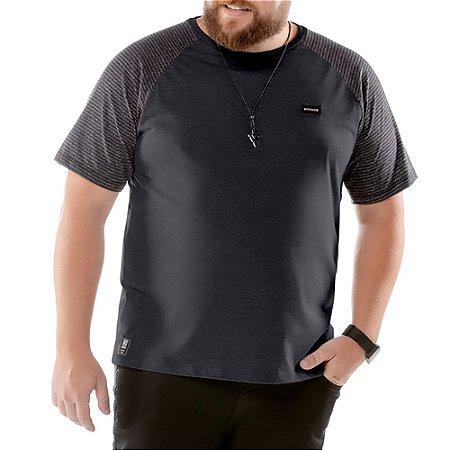 Camiseta Raglan Plus No Stress Grafite
