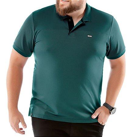 Camisa Polo Piquet Golden Plus No Stress Verde