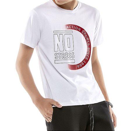 Camiseta Estampa Logo Menino No Stress Branca