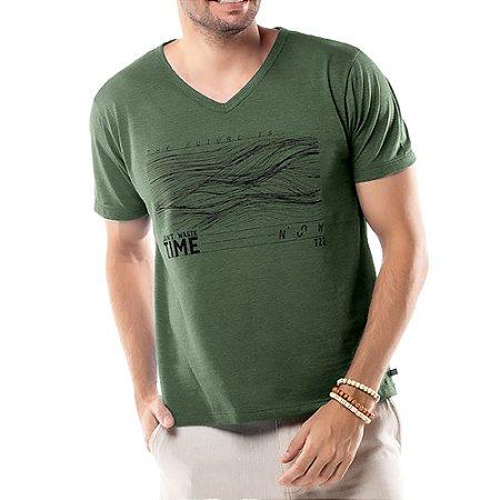 Camiseta Estampa Linhas TZE Verde