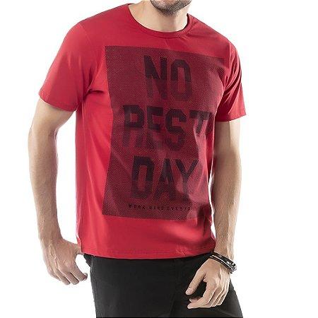 Camiseta Estampa NO REST DAT Frontal TZE Vermelha