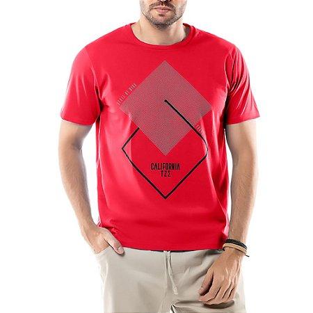 Camiseta Estampa Geométrica TZE Vermelha