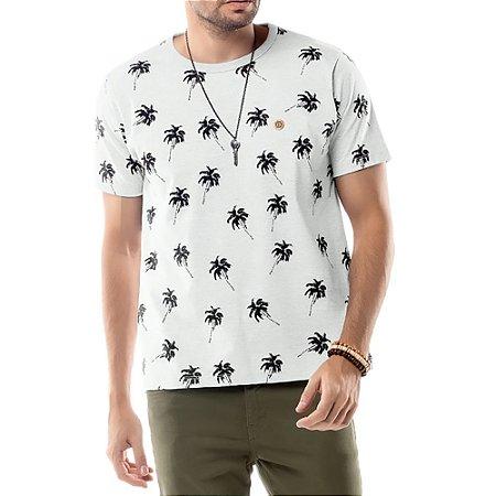 Camiseta Estampa Coqueiros TZE Branca