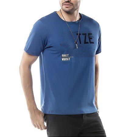 Camiseta Estampa Listras TZE Preta