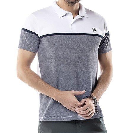 Camisa Polo Recorte Listy TZE Branca