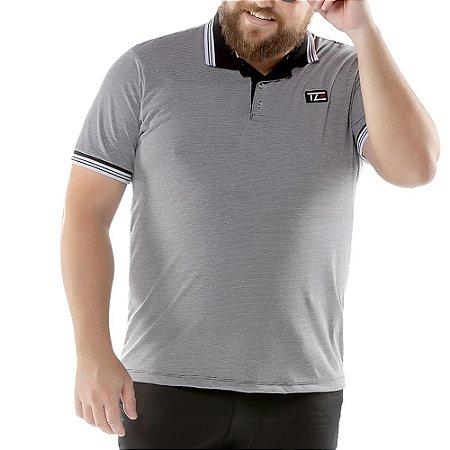 Camisa Polo Listy Plus TZE Preta