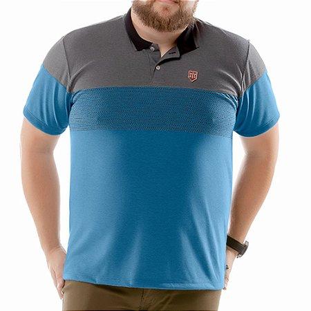 Camisa Polo Chess Plus TZE Azul