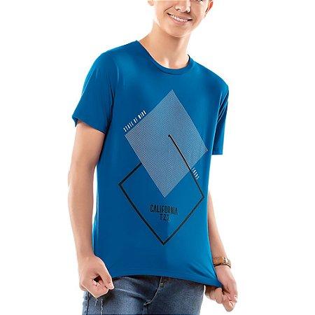 Camiseta Estampa Geométrica Menino TZE Azul