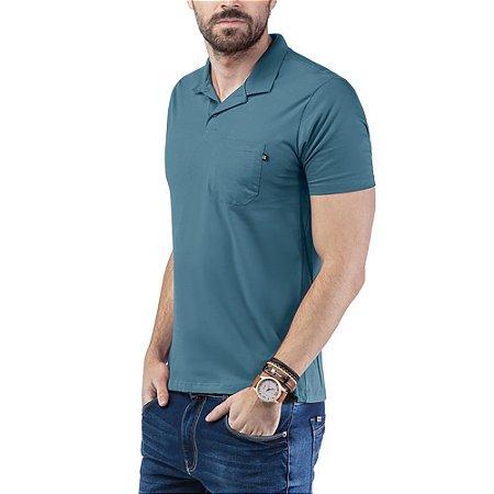 Camisa Polo Bolso TZE Azul
