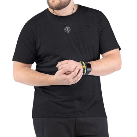 Camiseta Bordado Logo Plus TZE Preta