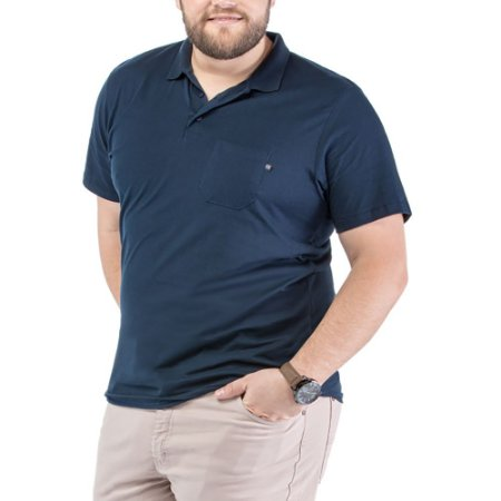 Camisa Polo Bolso Plus TZE Azul