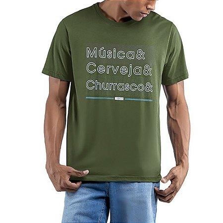 Camiseta Decote Redondo No stress Verde