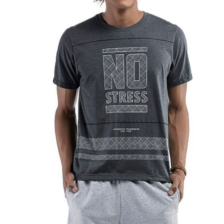 Camiseta C/ Estampa No Stress Verde