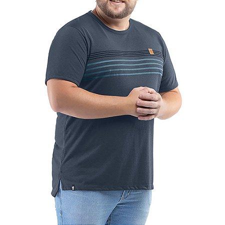 Camiseta C/ Aplique No Stress Plus Azul