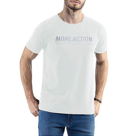 Camiseta C/ Estampa e Aplique TZE Branca