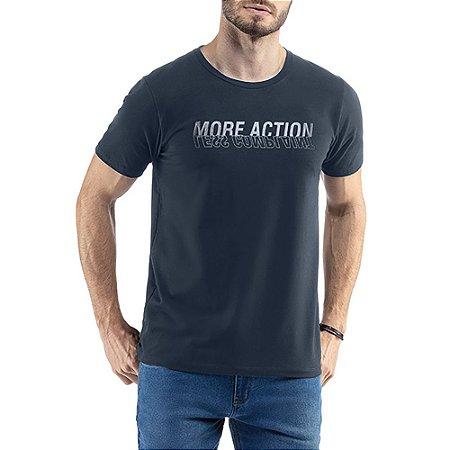 Camiseta C/ Estampa e Aplique TZE Azul