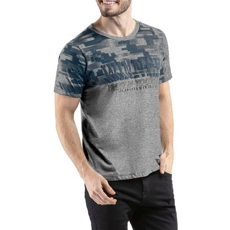 Camiseta C/ Estampa TZE Cinza